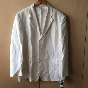 NWT Alfani blazer white sz L linen